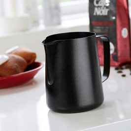 Čierna antikoro nádoba na mlieko Steel Function Milk Black, 1 l