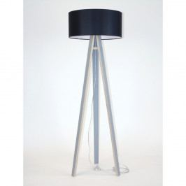 Sivá stojacia lampa s čiernym tienidloma transparentným káblom Ragaba Wanda