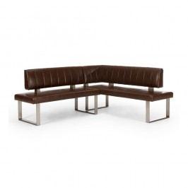 Hnedá rohová lavica SOB Matthew