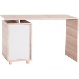Pracovný stôl s bielymi dvierkami Vox Evolve