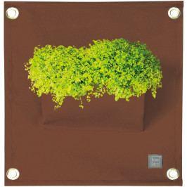 Hnedý závesný kvetináč The Green Pockets Amma, 45 x 50 cm