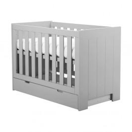 Sivá zásuvka pod detskú postieľku Pinio Calmo, 140×70cm