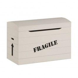 Krémový box na hračky zmasívneho borovicového dreva Pinio Fragile