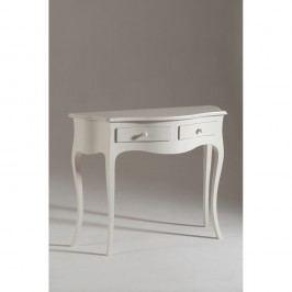 Biely drevený konzolový stolík Castagnetti Venezia