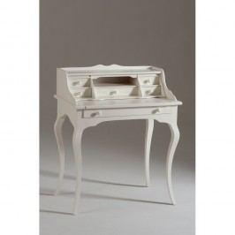 Biely drevený pracovný stôl so 6 zásuvkami Castagnetti Torino