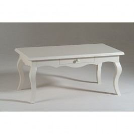 Biely drevený konferenčný stolík Castagnetti Corinne