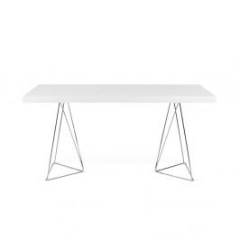 Pracovný/jedálenský stôl Trestle, dĺžka 160 cm, biely