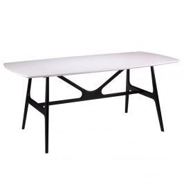 Biely jedálenský stôl sčiernymi nohami sømcasa Gabby, 180x90cm