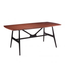 Jedálenský stôl vdekore orechového dreva sčiernymi nohami sømcasa Gabby, 180x90cm