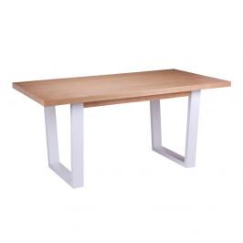 Jedálenský stôl vdekore dubového dreva sbielymi nohami sømcasa Amber, 180×90cm