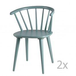 Sada 2 mentolovozelených jedálenských stoličiek sømcasa Anya