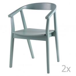Sada 2 mentolových jedálenských stoličiek sømcasa Donna