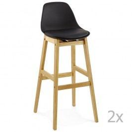 Sada 2 čiernych barových stoličiek Kokoon Design Elody
