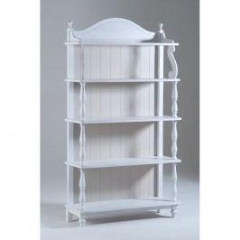 Biela drevená knižnica Castagnetti Sabine
