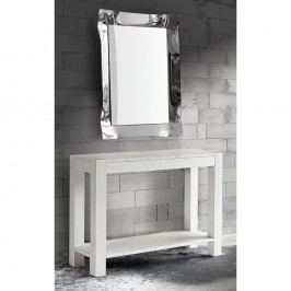 Biely konzolový stolík zjedľového dreva Castagnetti Fir
