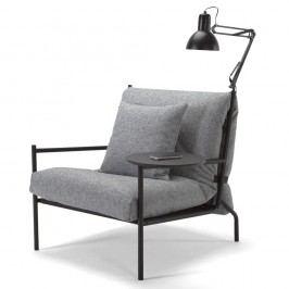 Sivé kreslo Innovation Noir Chair