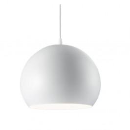 Biele závesné svietidlo Evergreen Lights Globe