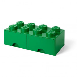Zelený úložný box s 2 zásuvkami LEGO®