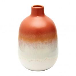 Oranžovo-biela váza Sass & Belle Bohemian Home Mojave