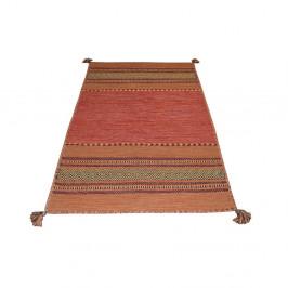 Oranžový bavlnený koberec Webtappeti Antique Kilim, 70 x 140 cm