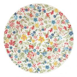 Kameninový tanier s kvetinovými detailmi Green Gate Sophia, ø 20,5 cm
