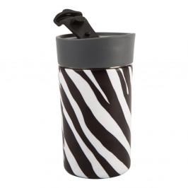 Čierno-biely antikoro termohrnček Navigate Zebra, 300 ml