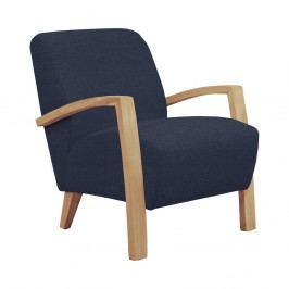 Modré kreslo so svetlou konštrukciou Windsor & Co. Luna