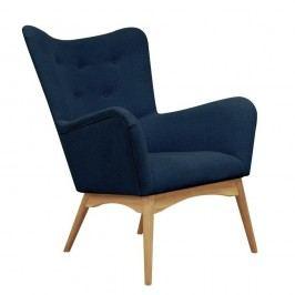 Modré kreslo Helga Interiors Karl