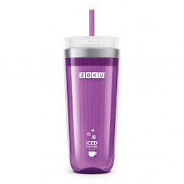 Fialový téglik na ľadovú kávu ZOKU Iced Coffee
