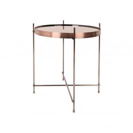 Kovový odkladací stolík v medenej farbe Zuiver Cupid