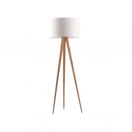 Biela stojacia lampa Zuiver Tripod Wood