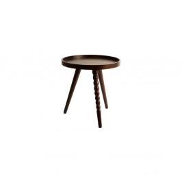 Konferenčný stolík v orechovom dekore Dutchbone,⌀40 cm