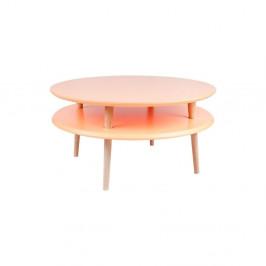 Oranžový konferenčný stolík Ragaba UFO,⌀70cm