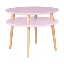 Ružový konferenčný stolík Ragaba UFO, ⌀57 cm