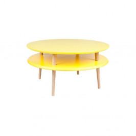 Žltý konferenčný stolík Ragaba UFO,⌀70cm