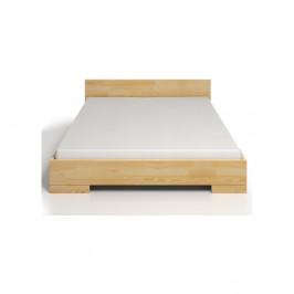 Dvojlôžková posteľ z borovicového dreva s úložným priestorom Skandica Spectrum, 160×200cm
