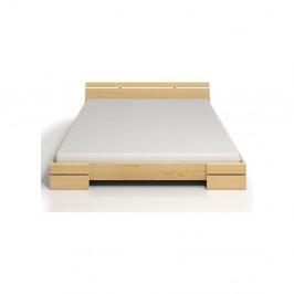 Dvojlôžková posteľ z borovicového dreva s úložným priestorom SKANDICA Sparta Maxi, 200×200cm