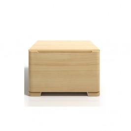 Nočný stolík z borovicového dreva sozásuvkou SKANDICA Sparta