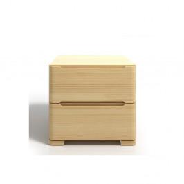 Nočný stolík z borovicového dreva s 2zásuvkami Skandica Sparta