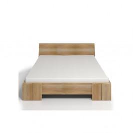 Dvojlôžková posteľ z bukového dreva s úložným priestorom Skandica Vestre Maxi, 200×200cm