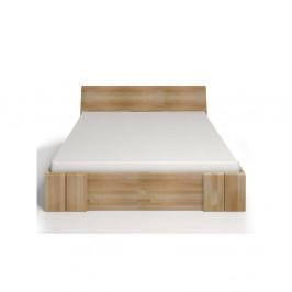 Dvojlôžková posteľ z bukového dreva sozásuvkou Skandica Vestre Maxi, 180×200cm