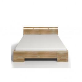 Dvojlôžková posteľ z bukového dreva s úložným priestorom Skandica Sparta Maxi, 200×200cm