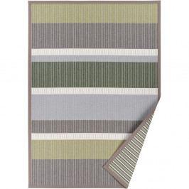 Sivo-zelený vzorovaný obojstranný koberec Narma Märdi, 70×140cm