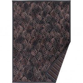 Antracitovosivý vzorovaný obojstranný koberec Narma Niidu, 70x140cm