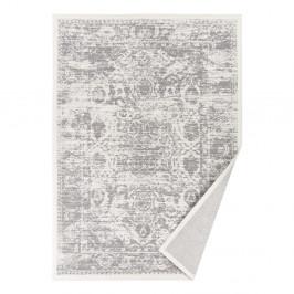 Biely vzorovaný obojstranný koberec Narma Palmse, 70x140cm