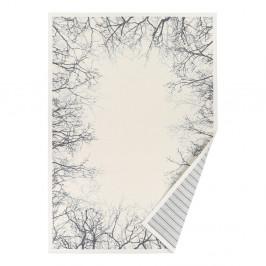 Biely vzorovaný obojstranný koberec Narma Puise, 70x140cm