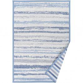 Modrý vzorovaný obojstranný koberec Narma Saara, 70×140cm