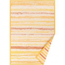 Žltý vzorovaný obojstranný koberec Narma Saara, 140×200cm