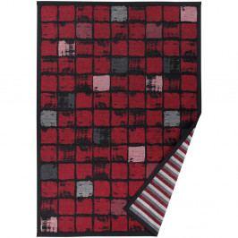 Červený vzorovaný obojstranný koberec Narma Telise, 70x140cm