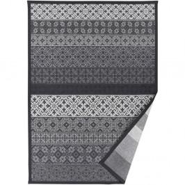 Sivý vzorovaný obojstranný koberec Narma Tidriku, 70×140cm